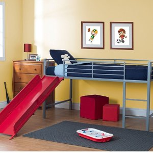 $194.63 (原价$279)DHP Junior Fantasy Loft Twin 儿童滑梯床