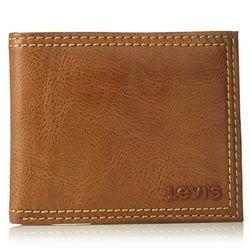 $10Levi's Men's Extra Capacity Leather Slimfold