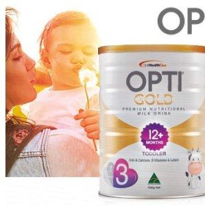 $16.99/罐补货:OPTI GOLD 金装婴幼儿奶粉 1/2/3段  900g
