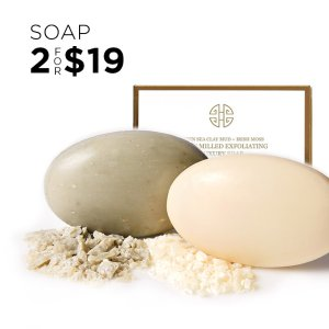 2 For $19 ($27.6 Value)Green Clay Mud Soap & Rose Water Soap On Sale @ Eve by Eve's
