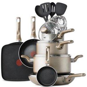 $59.99 + $10 Macy's MoneyT-Fal Culinaire 16-Pc. Cookware Set