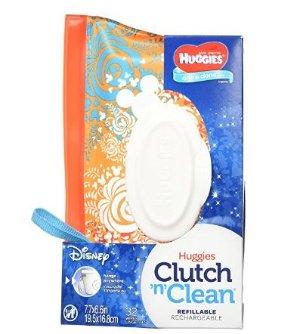 $1.9包邮(原价$5.99)妈妈必备 Huggies好奇 One & Done婴儿湿巾随身包-32片装
