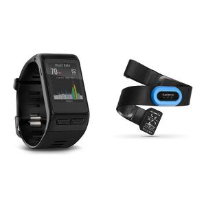 $150 (原价$252.25)Garmin vivoactive HR 心率监测智能手表 + RM-Tri 游泳心率监测仪