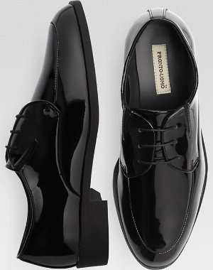 $13.99白菜价:Pronto Uomo 男士亮皮男士经典款商务皮鞋 8.5/9码有货
