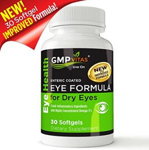 $16.63GMPVitas Enteric Coated Eye Formula- High Potency Omega-3 Supplement with Lutein, Astaxanthin Hyaluronic Acid, Vitamin C and E