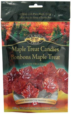 $5.41(原价$8.92)加拿大特产!L B Maple Treat  枫叶造型纯天然枫糖浆糖果140克
