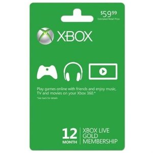 $3912-Month Xbox Live Gold Membership Card