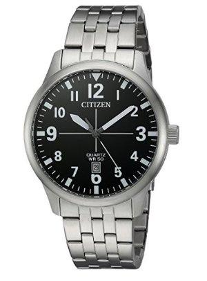 $66.23史低价:Citizen 西铁城不锈钢时尚男士腕表