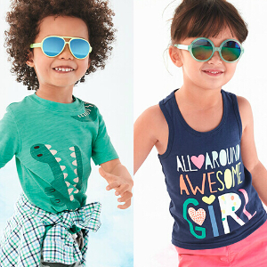 $7 + Extra 25% Off $40Graphic Tees @ Carter's