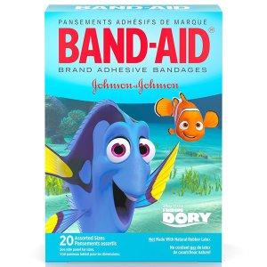 $1.5Band-Aid 迪士尼海底总动员图案创可贴20片入