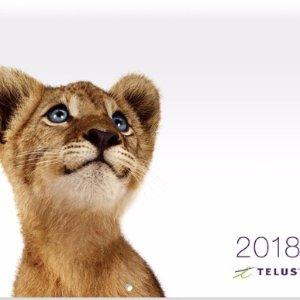免费!!!Telus 免费赠送2018年日历