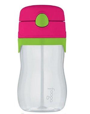 $7.99(原价$9.99)THERMOS FOOGO 儿童防漏弹盖吸管杯 - 西瓜红/绿色