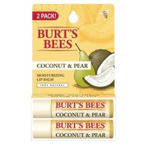 $3.70Burt's Bees 100%天然滋润唇膏  两支装 凑单品