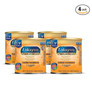 $38Enfagrow PREMIUM Toddler Transitions Formula Powder, 20 Ounce Can, Pack of 4