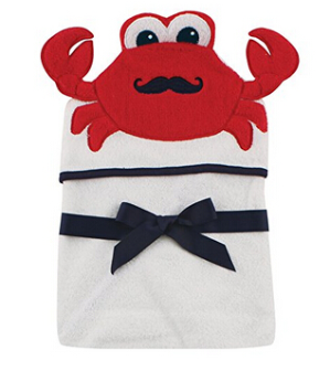 $5.63Hudson Baby  蟹先生可爱婴儿连帽毛巾、浴巾