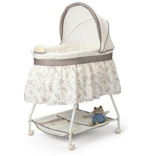 $36Delta Children's Products Sweet Beginnings Bassinet, White