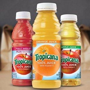 $9.81起Tropicana 橙汁、苹果汁 296ml 24瓶装