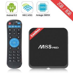$69.99 (原价$89.99)Leelbox M8S Pro 2017 4K高清四核双频WiFI流媒体播放器/网络电视机顶盒