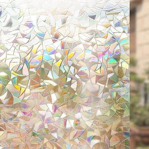 $5Rabbitgoo 3D No Glue Static Decorative Films Glass Window Film Anti UV 17.7