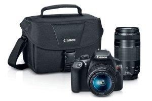 $449.99Canon EOS Rebel T6 18MP DSLR Camera with 18-55mm + 75-300mm Lenses + Pro 100 Printer