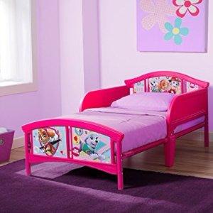 $39.88 (原价$59.99)Delta Children 卡通图案粉色女童款小床