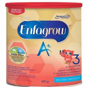 $15.99包邮Enfagrow 美赞臣 A+ 3段幼儿配方奶粉680g
