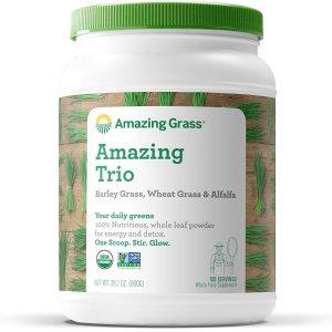 $29Amazing Grass Organic Amazing Trio Greens Powder with Wheat Grass 100 Servings