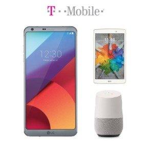 $500.00 + Free Google HomeLG G6 32GB Smartphone + 16GB LG G Pad X 8.0 Tablet