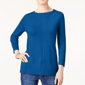 $9.86起 超多百搭色macys.com 精选女士毛衣和开衫热卖 码全