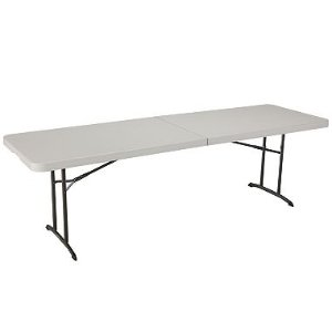 $69Lifetime 8' Fold-in-Half Commercial Grade Table