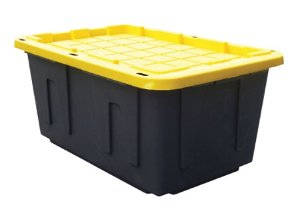 4 for $27.97Centrex Plastics Tough Box Storage Tote, 27 Gallons