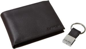 $24.99 (原价$45)Calvin Klein 男士钱包与钥匙扣套装热卖