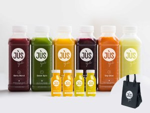 Only $99!Get the 3-Day Cleanse + 12 Booster Shots + Bonus Tote Bag + Free S&H @ Jus by Julie