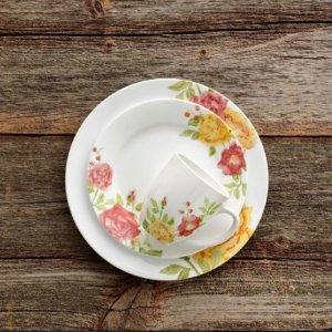 单件餐具买1送1延长一天:Corelle餐具官网促销 不易碎裂 适合每日使用